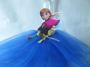 Tubete Frozen Anna com saia de tule
