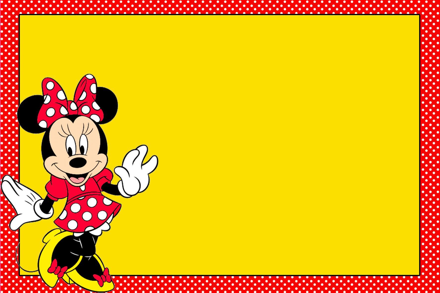 Kit Digital Minnie Vermelha Viver Com Criatividade