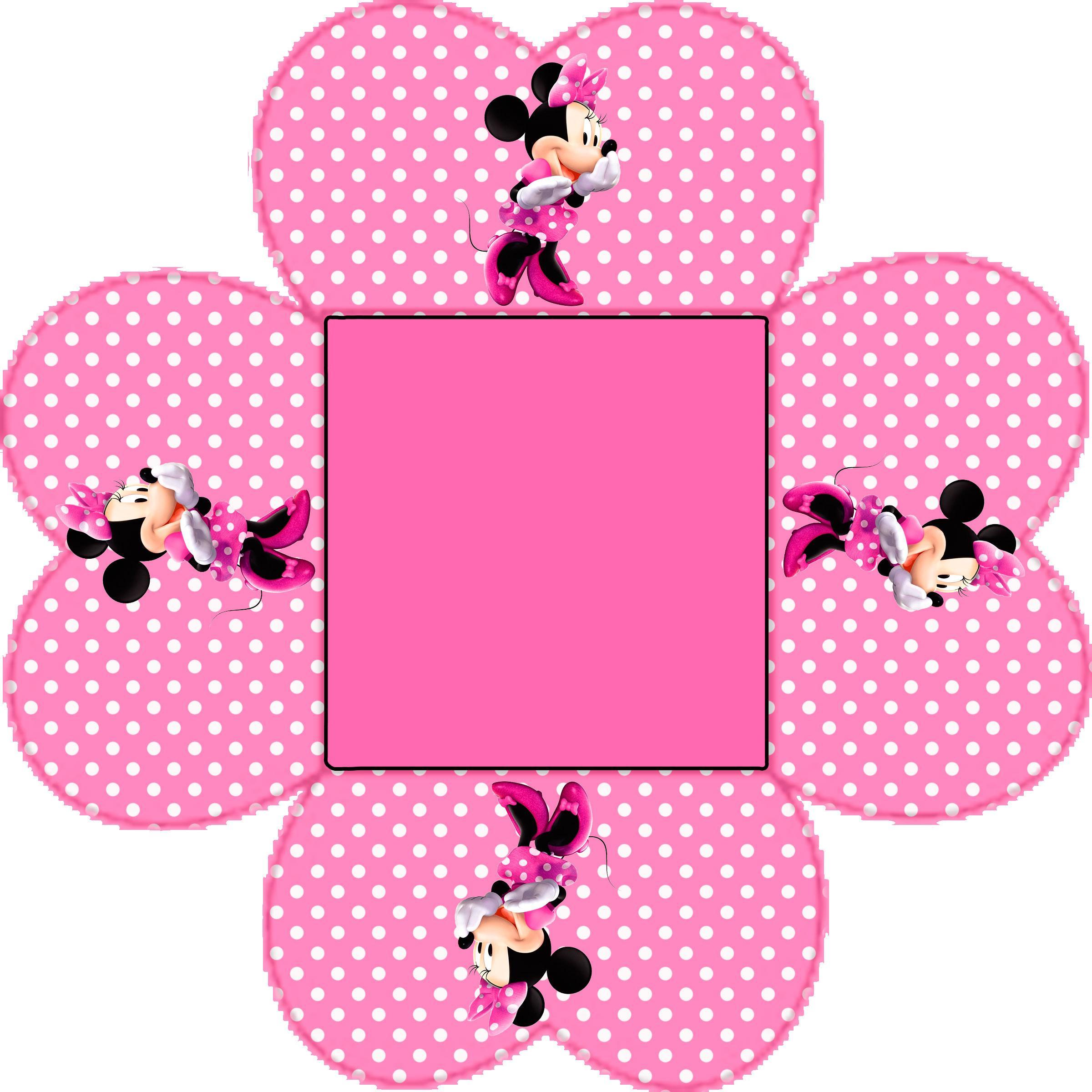 Kit Digital Minnie Rosa Viver Com Criatividade