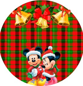 LATINHA DE NATAL MINNIE E MICKEY