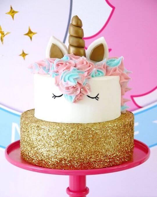 bolo para festa unicórnio