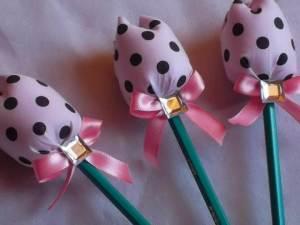 Como vender artesanato pela internet tulipa lápis rosa poá marrom