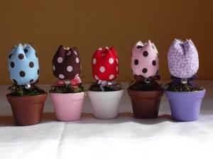 Como vender artesanato pela internet mini vaso com tulipas