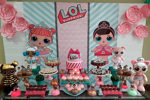 bad3131d36 Decoração de Festa Infantil LOL Surprise - Viver com Criatividade