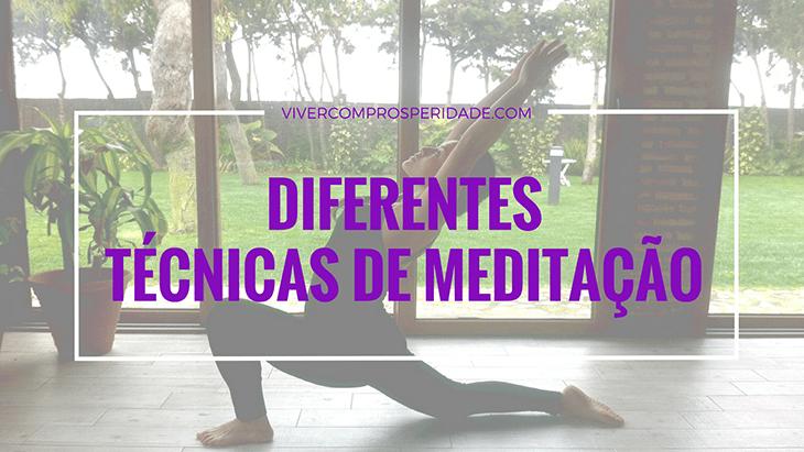 Diferentes técnicas de meditação