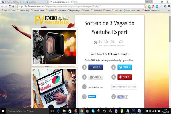 Promoção Youtube Expert 2
