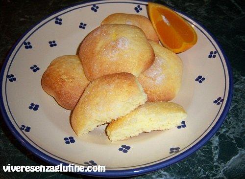 Biscotti all'arancia senza glutine