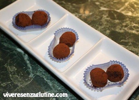 Tartufi al cioccolato senza glutine