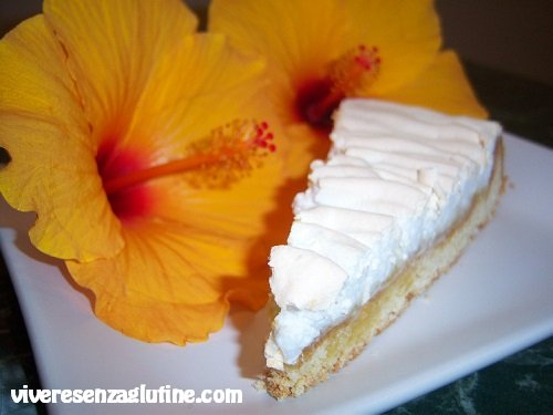 Gluten-free lemon meringue tart