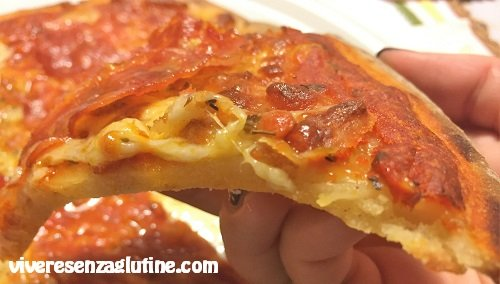 Pizza congelata senza glutine Conad