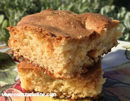 Gluten-free white chocolate blondies