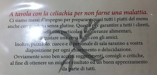 Pizzeria La Luna Firenze - Menù Pag.1