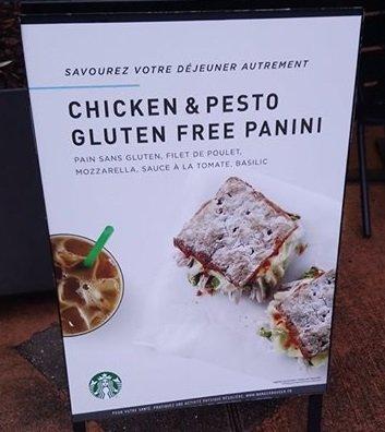 Starbucks Disney Village panino senza glutine