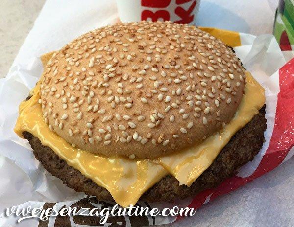 Gluten-free hamburger at Burger King Spain