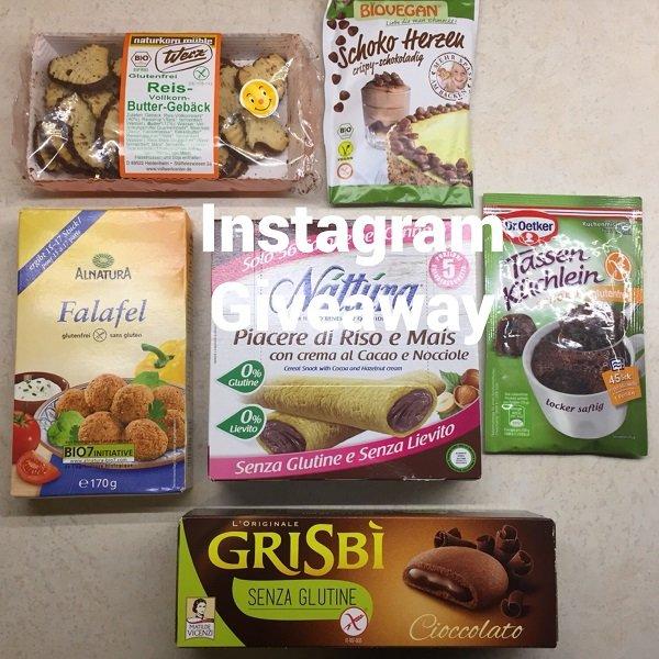 Giveaway senza glutine su Instagram