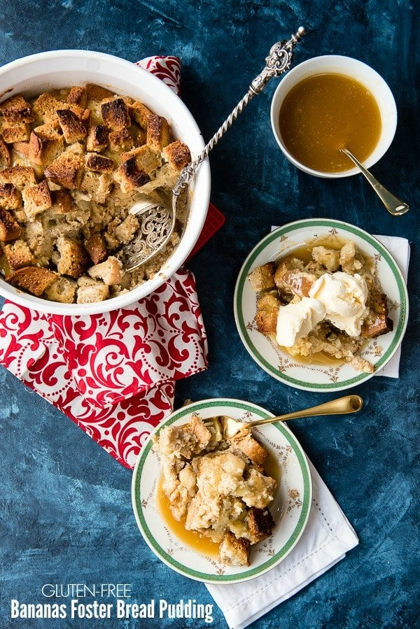 Gluten-free Bananas Foster Bread Pudding