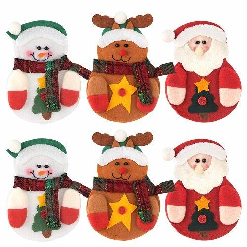 Portaposate di Natale Pupazzo di neve - Renna - Babbo Natale