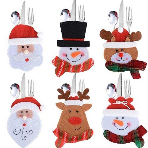 Portaposate: babbo Natale, pupazzo di neve, alce e renna