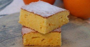 Quadrati all'arancia senza glutine