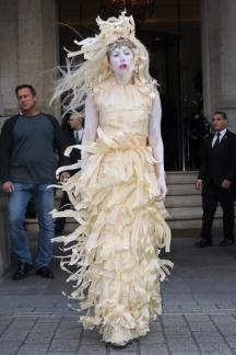 Vestido Madera. Assaad Awad, Lady Gaga