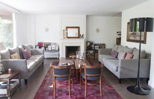 Vivienda con muebles de diseño