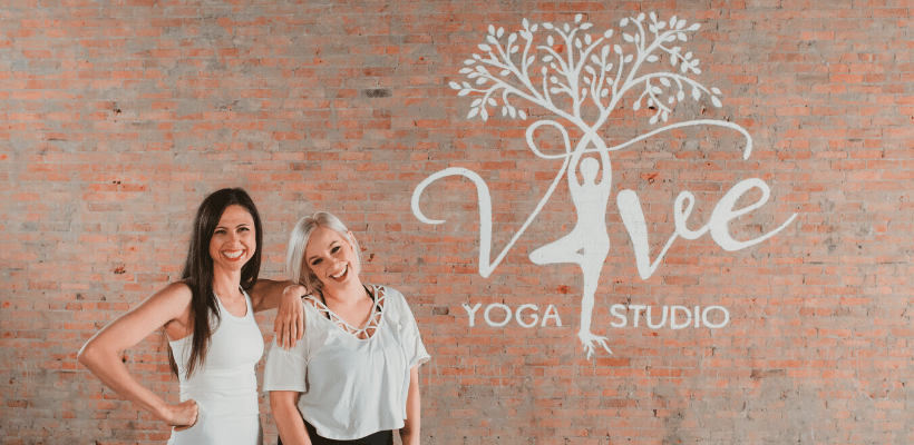 Felice and Alexis, co-owners at Vive Yoga Studio