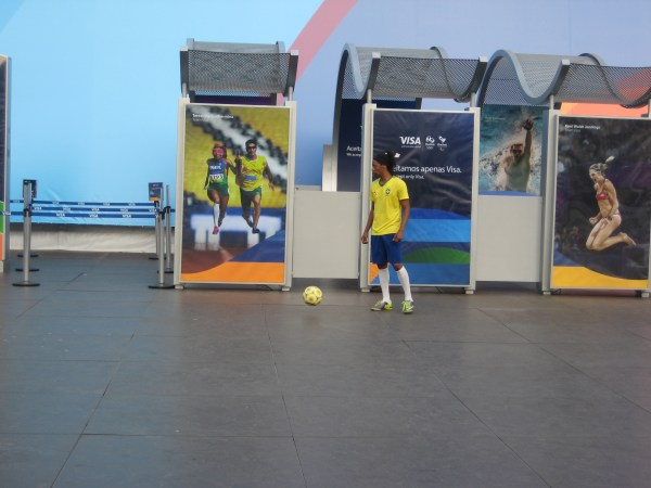 Ronaldinho at Copacabana