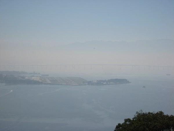 Foggy mountains in Rio