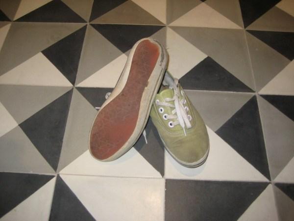 Vivian's goodbye to sneakers