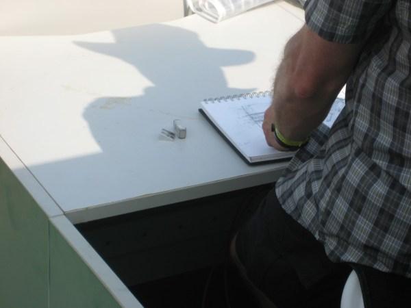 Guy drawing