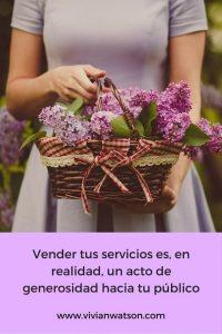 Vender es un acto de generosidad