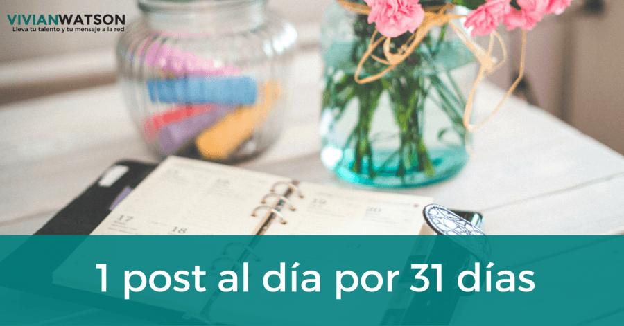 Mi reto de octubre: Un post al día durante 31 días