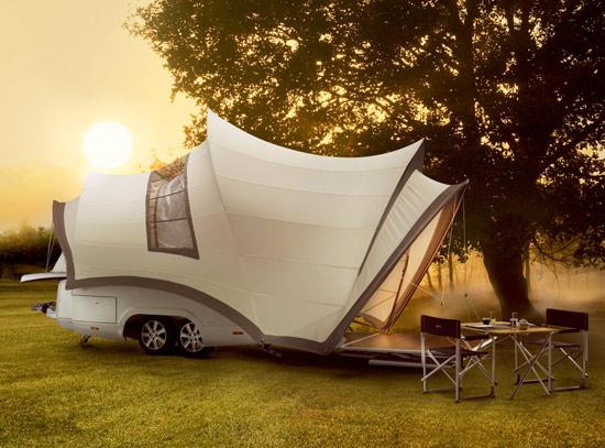 Campeggio in grande stile con Opera Caravan
