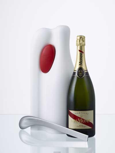 Lo Champagne GH Mumm Cordon firmato da Ross Lovegrove