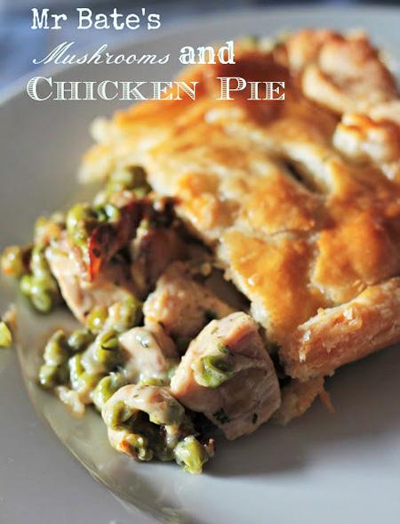 Chicken Pie con funghi e piselli – la ricetta autunnale di Andante con Gusto