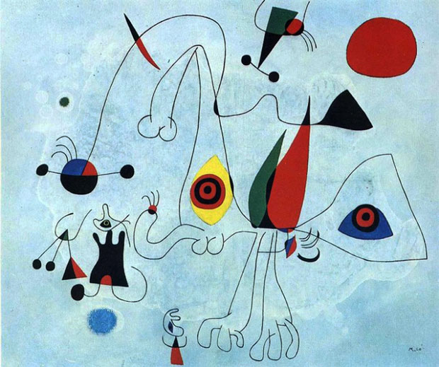 La mostra di Joan Miró a Villa Manin — Soli di Notte