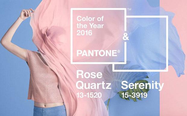 Colori Pantone 2016: Azzurro Serenity e Rosa Quarzo