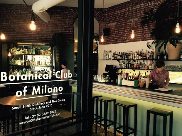 The Botanical Club – distilleria di gin con bistrot e american bar a Milano