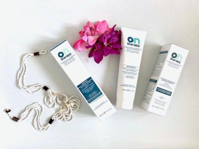 Prodotti cosmetici per la pelle in terapia