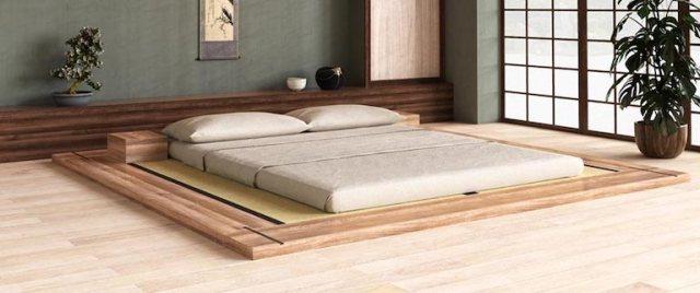 Camera da letto ecologica e sostenibile con letti in legno d'artigianato italiano