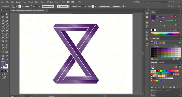 Escher Infinity Shape in Illustrator