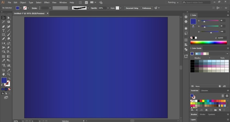 Create a Gradient Background for Mandala Drawing