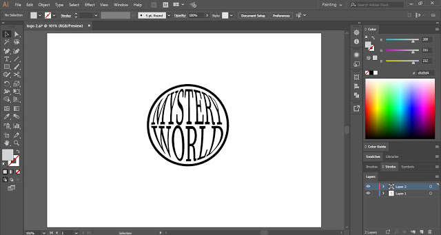 Wrap the Text in the Circle to create Spyglass Effect