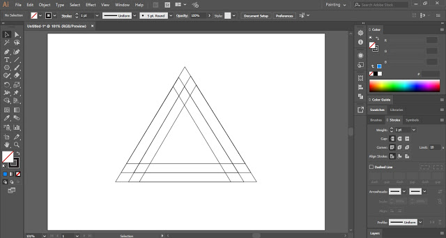 Create copies of triangle