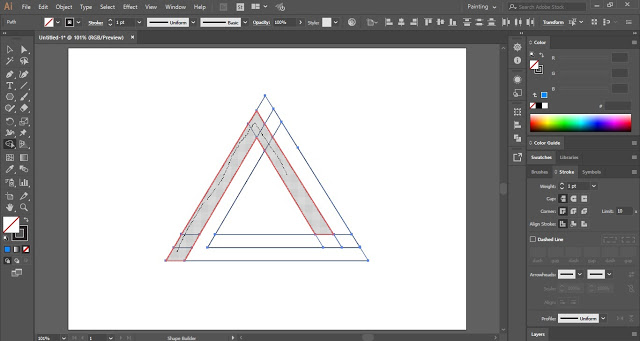 Merge shapes with the help of the Shape Builder Tool