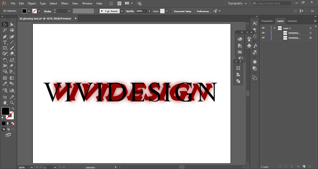 Select the top layer of the text