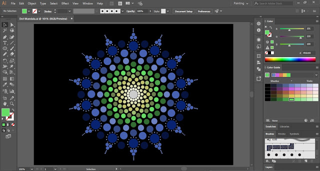 Dot Mandala in Adobe Illustrator