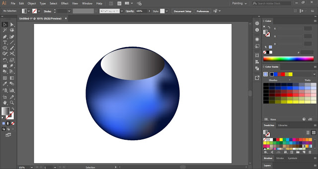 Draw an Oval Shape on the sphere