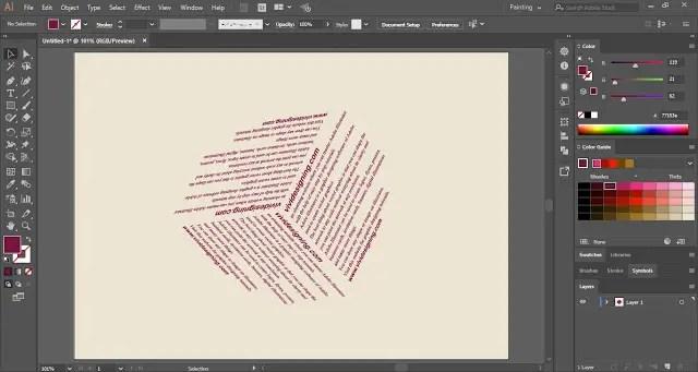 Text on 3D Shape in Adobe Illustrator