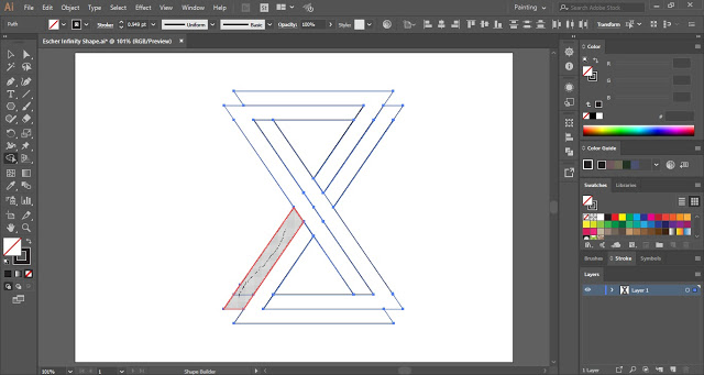 Merge paths with the help of the Shape Builder Tool